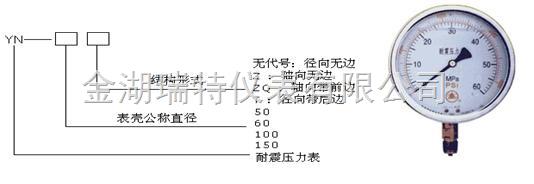 YTN150 0-2.4MPa 精度1.5 接口尺寸:M20*1.5
