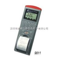 台湾衡欣AZ9811带打印红外线测温仪,列表式红外线测温仪(RS232)温度记录仪