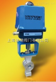 VT2IEW33A-电动V型切断球阀法兰式、电动不锈钢V型对夹式球阀、进口V型电动调节球阀