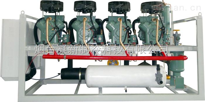 四并联高温活塞机组/凝新专利冷凝机组/高温冷库制冷机组