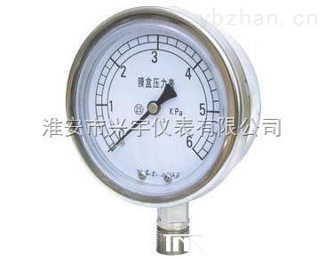 XY-YE-膜盒压力表