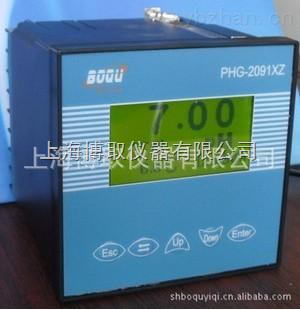 液晶显示中文界面的在线PH计,汽水取样架上的PH仪表