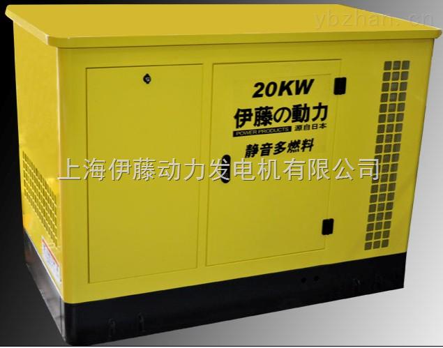 带转换柜20KW静音汽油发电机