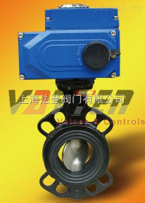 D971X進口慢開電動蝶閥、軟密封電動對夾式蝶閥