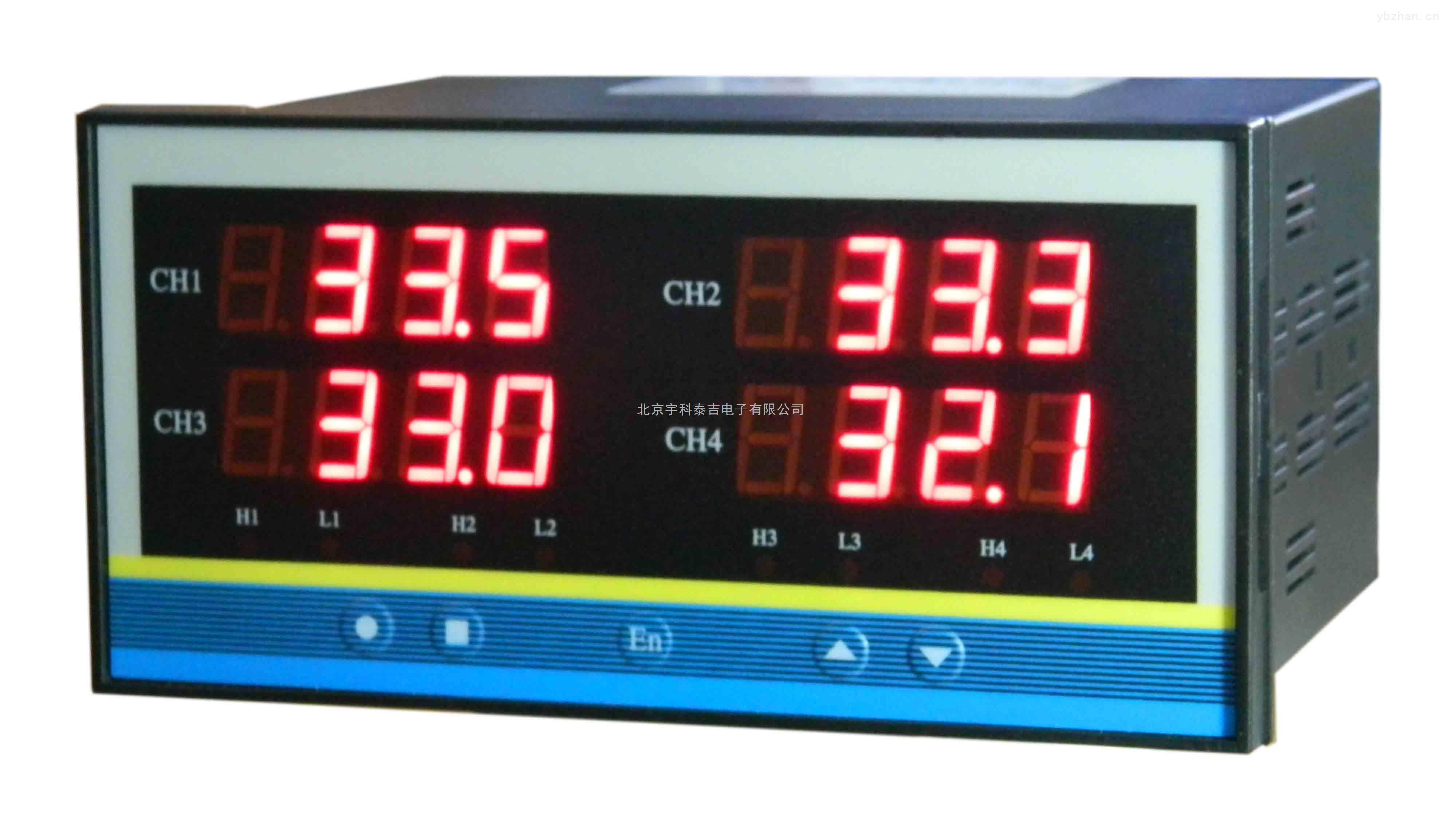 型号:YK-14A,工业四路温度变送器,四路PT100温度数显仪,北京宇科泰吉