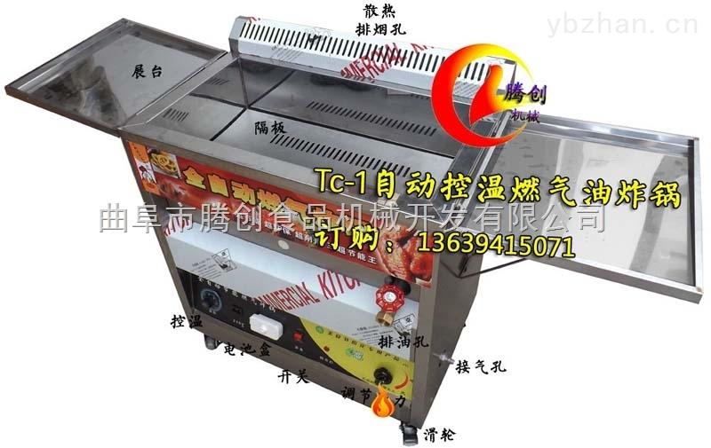 小型控温燃气油炸炉