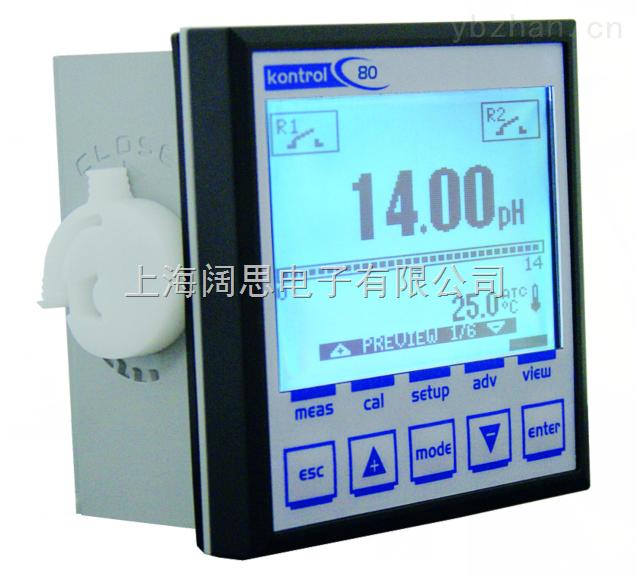 上海阔思,主营意大利SEKO品牌Kontrol80单参数工业在线水质分析仪余氯在线控制器