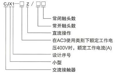 cjx1-z(9a-32a)直流操作交流接触器