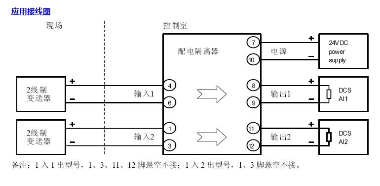 检测端电流隔离栅