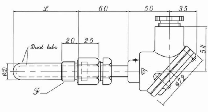 热电阻应用之船用rt-sd带接线盒温度传感器