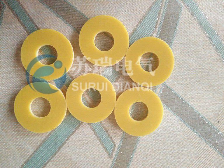 二,环氧树脂绝缘垫片产品介绍    环氧树脂垫片由电工玻璃布浸以环
